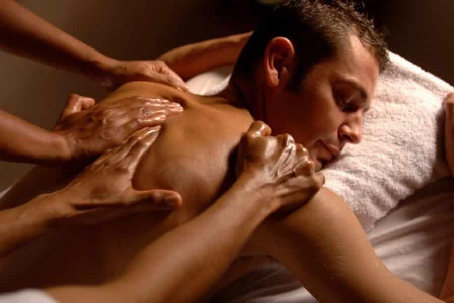 aroma massage 4 mains