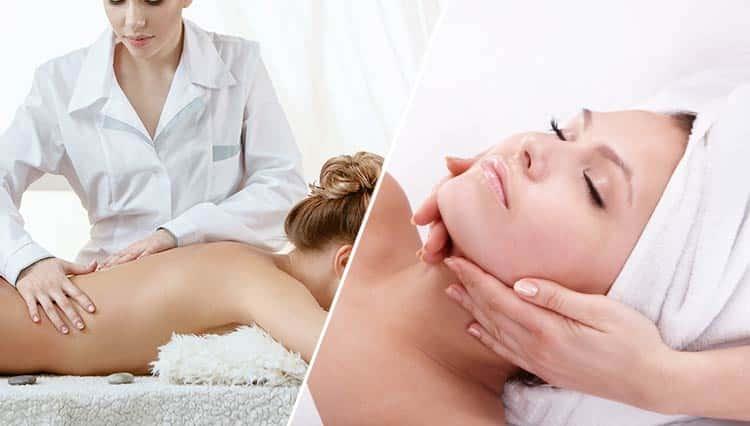 aroma soin du visage le must, soin du visage précédé un massage du dos