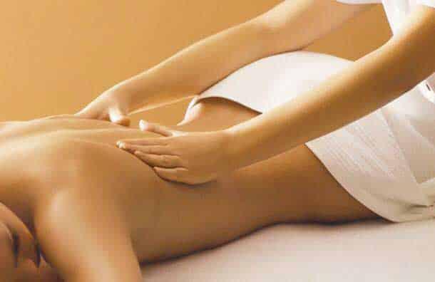 aroma massage du dos