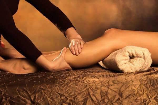 aroma massage jambes légères