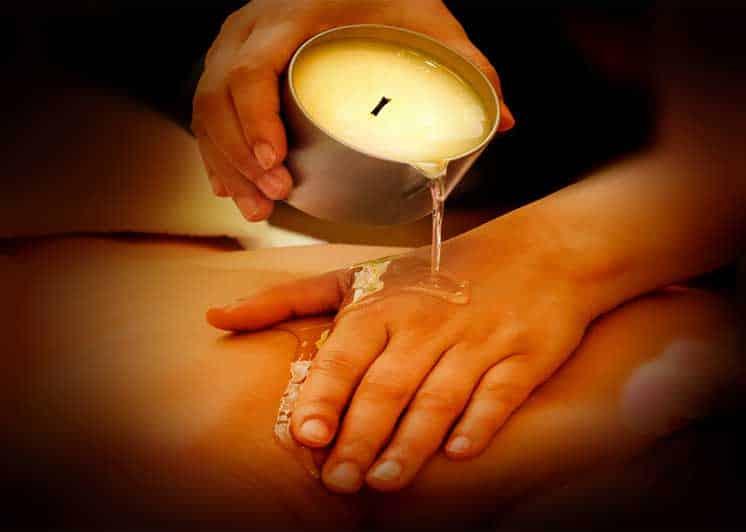 aroma massage à la bougie